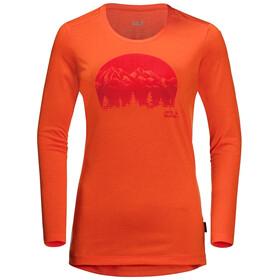 Jack Wolfskin Crosstrail Graphic LS Shirt Women, wild brier